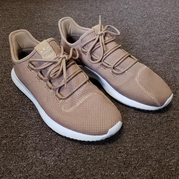 MENS Adidas Tubular Shadow Trainers in Brown sz 10
